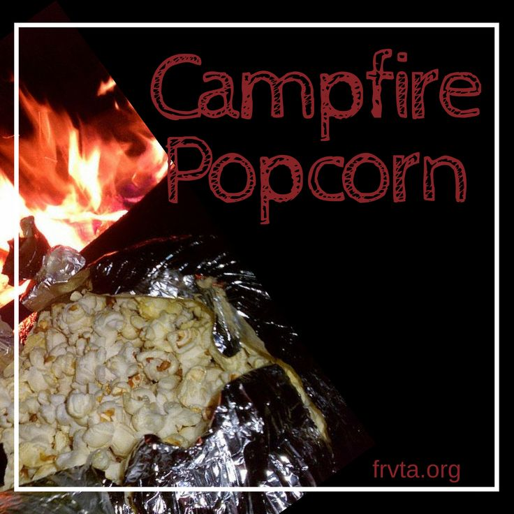 Campfire Popcorn https://www.frvta.org/campfire-popcorn/?utm_campaign=coschedule&utm_source=pinterest&utm_medium=Florida%20RV%20Trade%20Association%20&utm_content=Campfire%20Popcorn Something about a smokey fire and freshly popped corn is just oh-so-right together. Try this tasty treat on your next outdoor excursion!