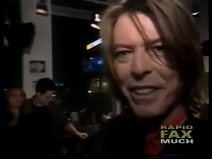 David Bowie at Much Music Awards in Canada in 1999