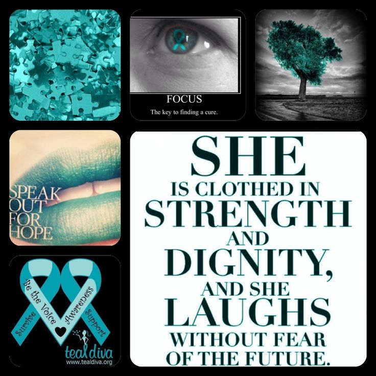 Ovarian Cancer Awareness--Bust out the Teal.