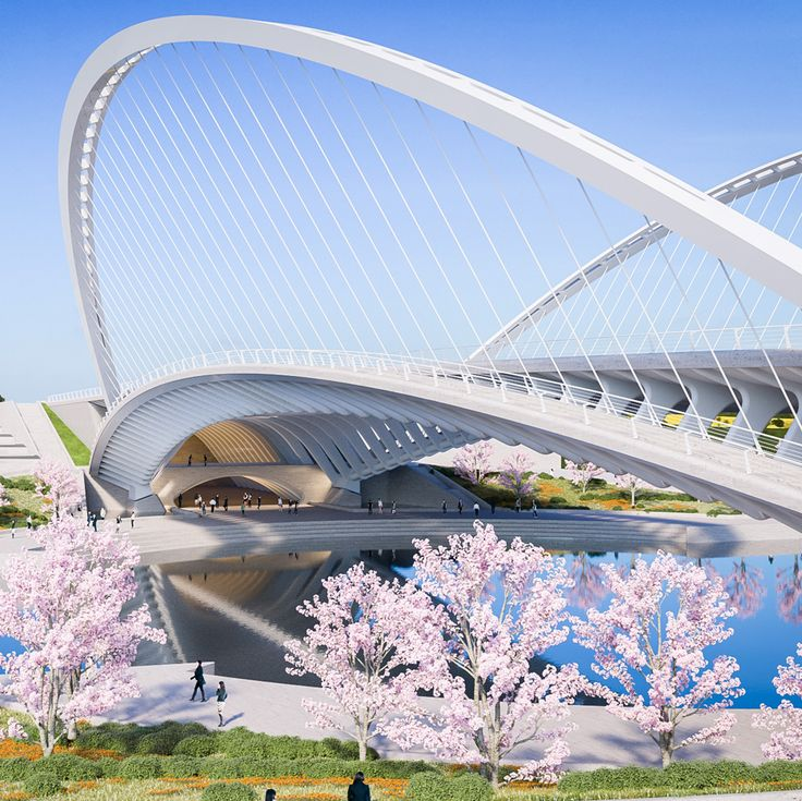 Santiago Calatrava unveils three bridge designs for Huashan, China