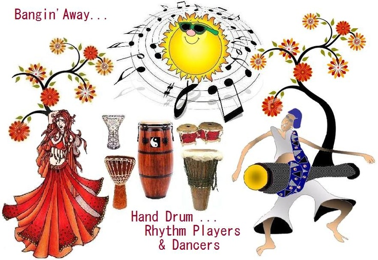 Bangin' Away Hand Drum Rhythm Players.... rhythm art!!