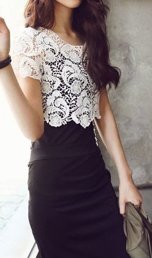Crochet lace! I love!! I feel it's an easy way to dress down that lil(not so little) black dress for work or whatever!
