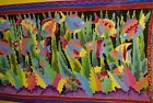 EXCLUSIVE HIGH QUALITY UNIQUE HAND PAINTED ARTIST SIGNED SARONG PAREO SHAWL ART