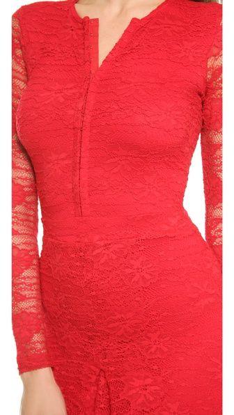 Nightcap Clothing Кружевное платье Marigold с юбкой-карандаш