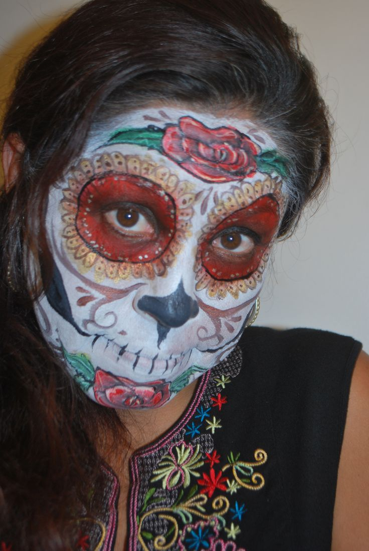 sugar skull face painting   Face painting ideas for kids ...