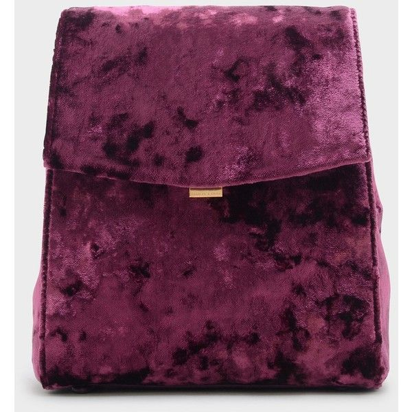 Charles & Keith TEXTURED SHOULDER BAG (1.071.160 IDR) ❤ liked on Polyvore featuring bags, handbags, shoulder bags, purple shoulder bag, purple handbags, velvet handbag, shoulder handbags and purple purse