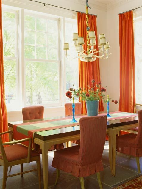 15 Best Orange Dining Room Images On Pinterest