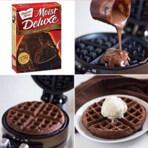 Chocolate Waffles, making these tonight. Do strawberry or chocolate syrup. Powdered sugar and mixed berries side of bacon or sausage and vanilla yogurt.