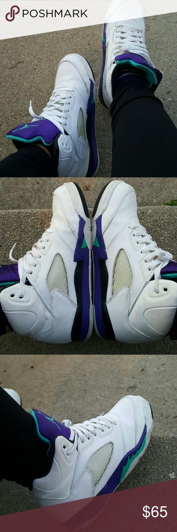 Selling this 🍇 Nike Air Jordan Retro 5 on Poshmark! My username is: evewithluv. #shopmycloset #poshmark #fashion #shopping #style #forsale #Jordan #Shoes