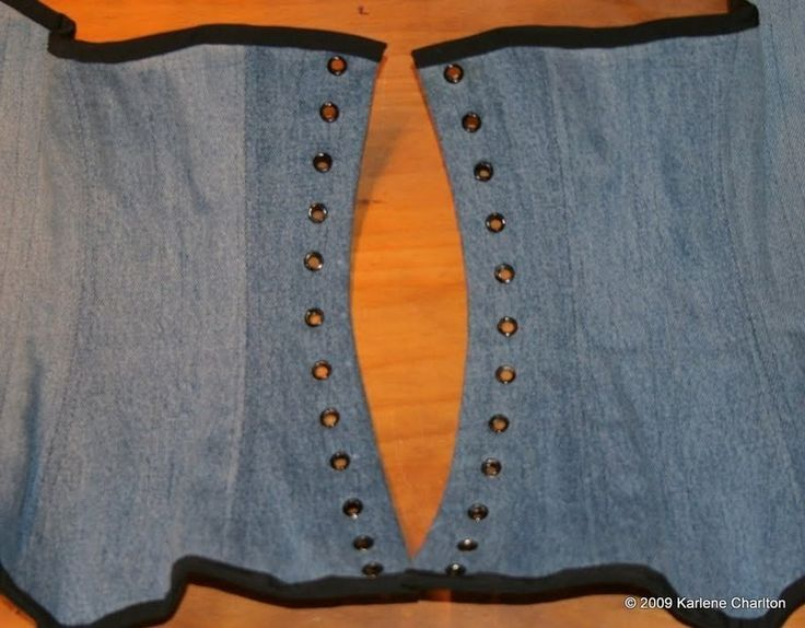 Recycled Denim Corset ∙ How To by Karlene C. on Cut Out + Keep