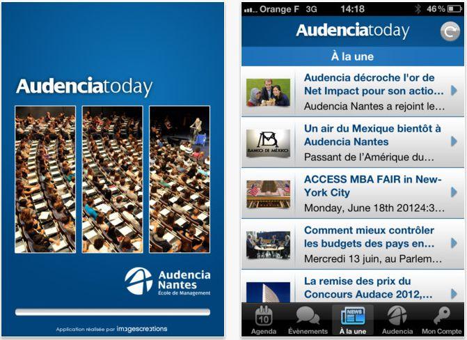 Audencia lance son application iPhone (Réalisation www.imagescreations.fr)