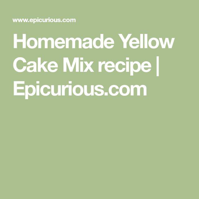 Homemade Yellow Cake Mix recipe   Epicurious.com