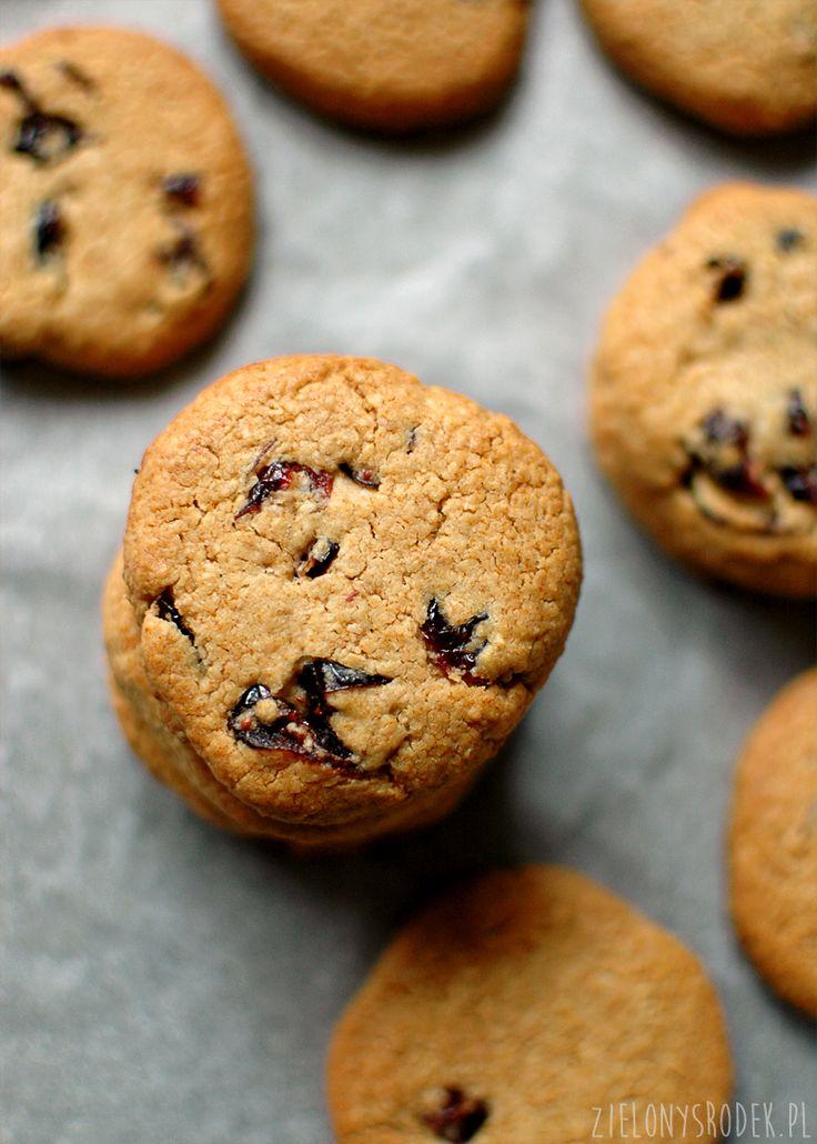 ciasteczka owsiane z żurawiną bez mąki