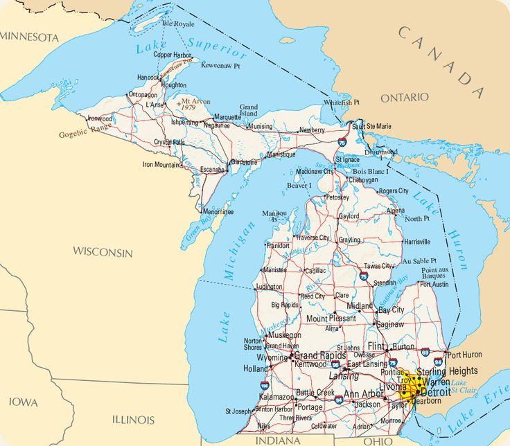 Carte Michigan