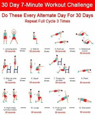 7 minute workout challenge full body circuit repeat 3