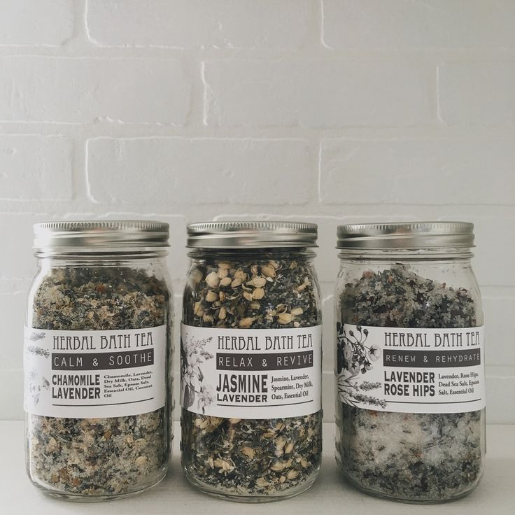 Three Herbal Bath Tea Recipes // Under a Tin Roof