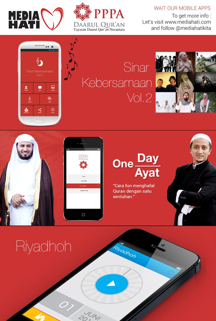 Wait our mobile apps : Daqu Album, ODOA, Riyadhoh. Let's visit www.mediahati.com and go follow @Beverly Dietrich Hati to get more info.