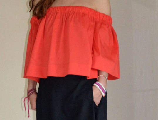 Langarmblusen - Koralle  Sommer Bluse / Popeline Stoff   - ein Designerstück von Evoletfashion bei DaWanda