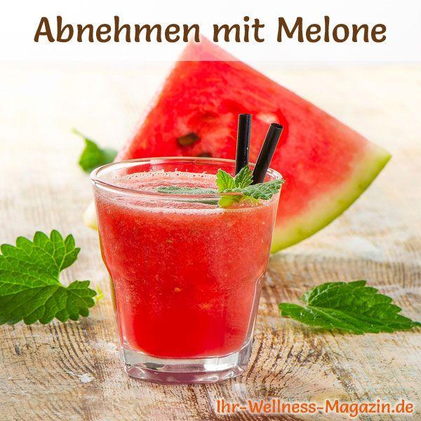 Melonen Rezepte zum Abnehmen: Abnehmshake mit Wassermelone - kalorienarm, gesund und lecker, das perfekte Diät-Rezept für die schlanke Linie ...