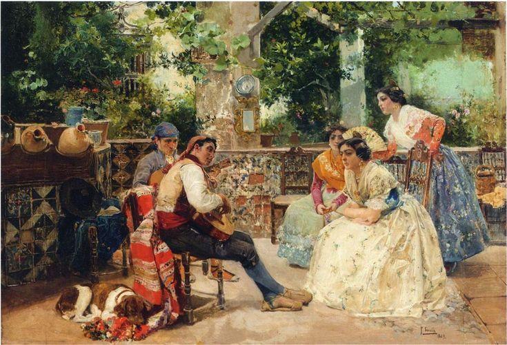 """Joaquín Sorolla """"Guitar players"""", Valencia, 1889"""
