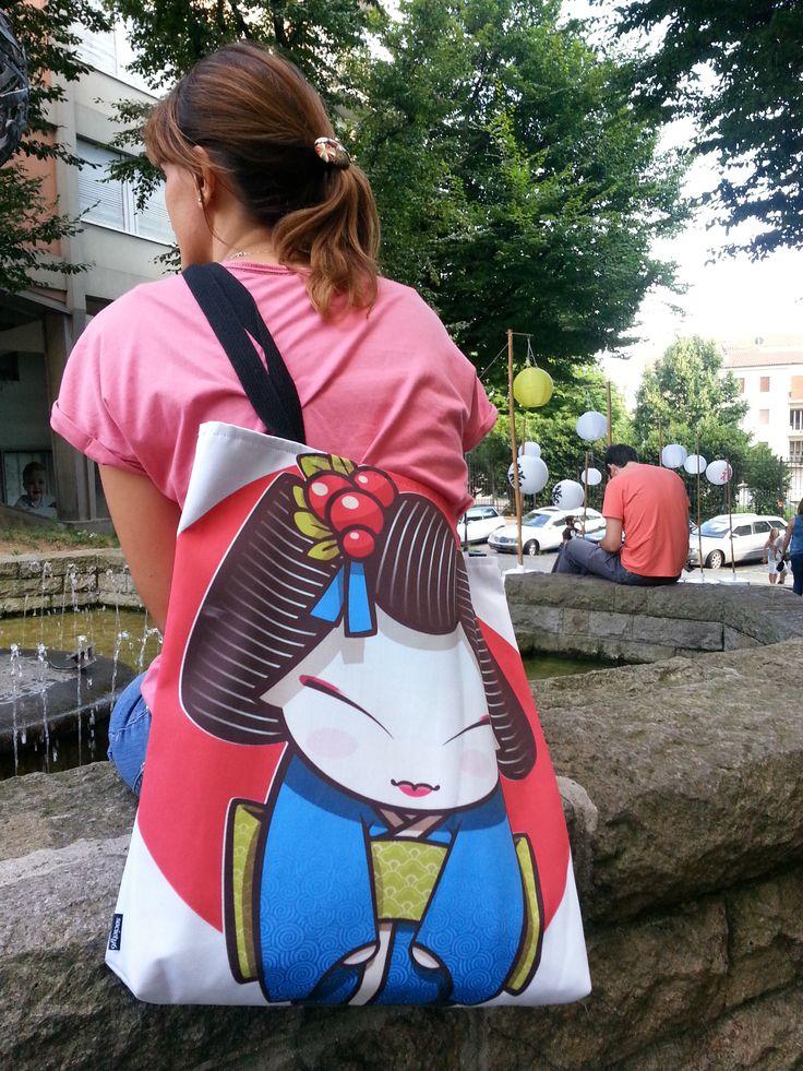 #geisha bag from #society6 designed by Sara Penco  http://society6.com/product/geisha-ifq_bag#26=197