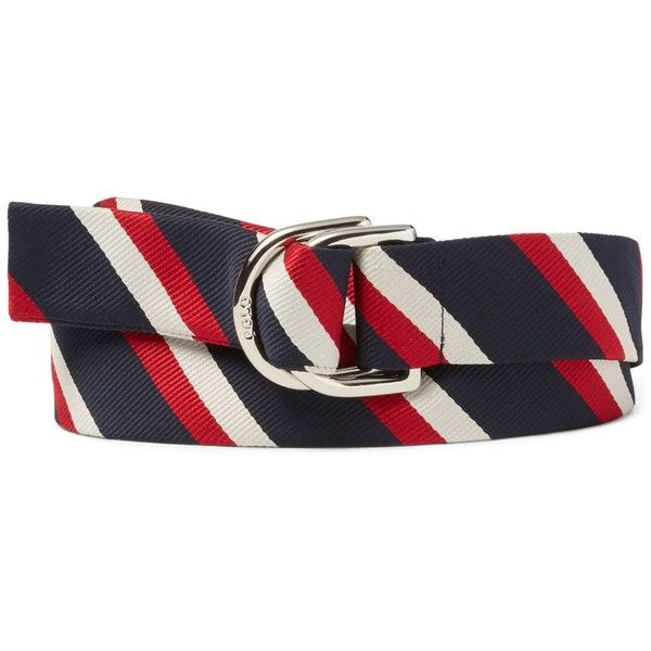 Polo Ralph Lauren Men's Team Usa Ceremony Striped Belt ($98) ❤ liked on Polyvore featuring men's fashion, men's accessories, men's belts, red white blue, mens red belt and polo ralph lauren mens belts