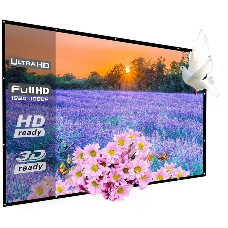 9. Top 10 Best Portable Projector Screens Review