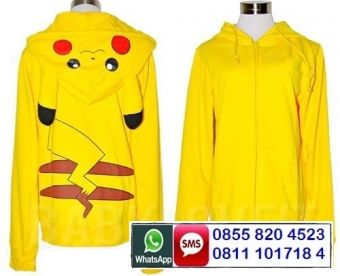 Cute Jaket Pikachu Hoodie