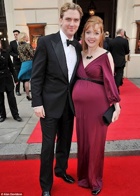 Dan Stevens Show Off His Glowingly Pregnant Wife at the 2012 Olivier Awards. View more here http://www.downtonabbeyaddicts.com/2012/04/dan-stevens-show-off-his-glowingly.html