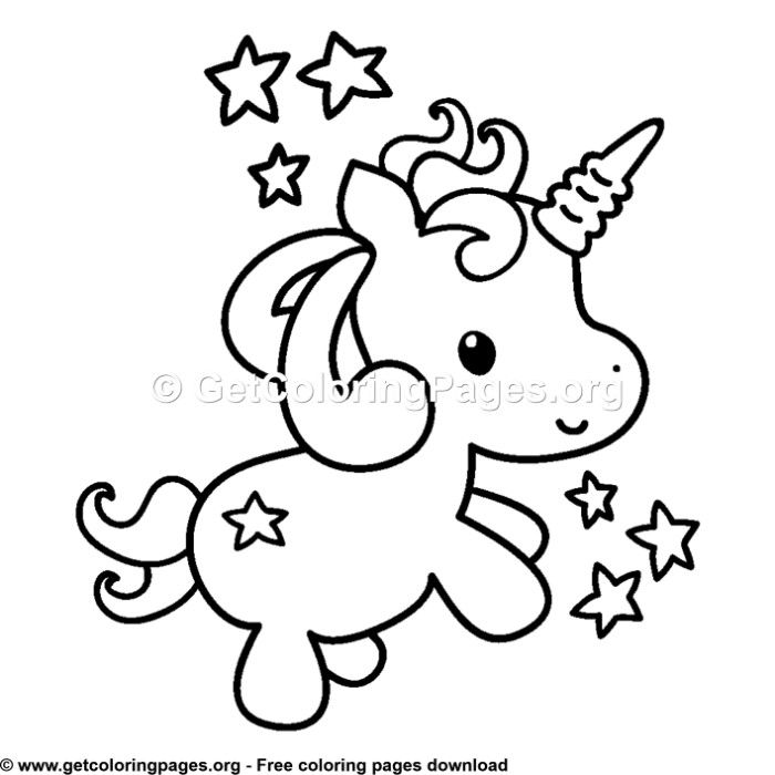 103 Cute Cartoon Baby Unicorn Coloring Pages Unicorn Coloring