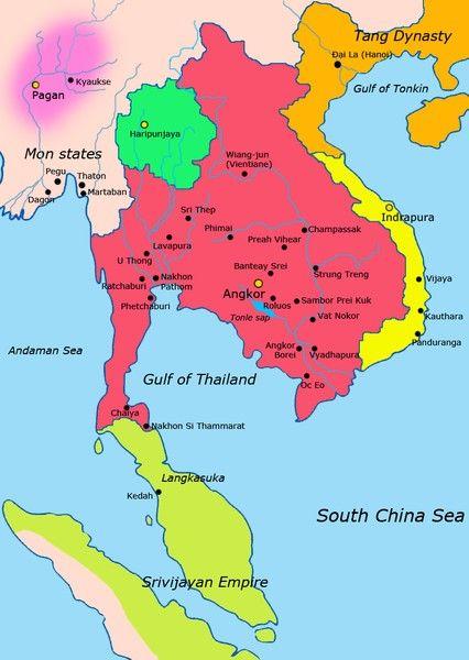 Khmer Empire c. 900 CE (Illustration) - Ancient History Encyclopedia
