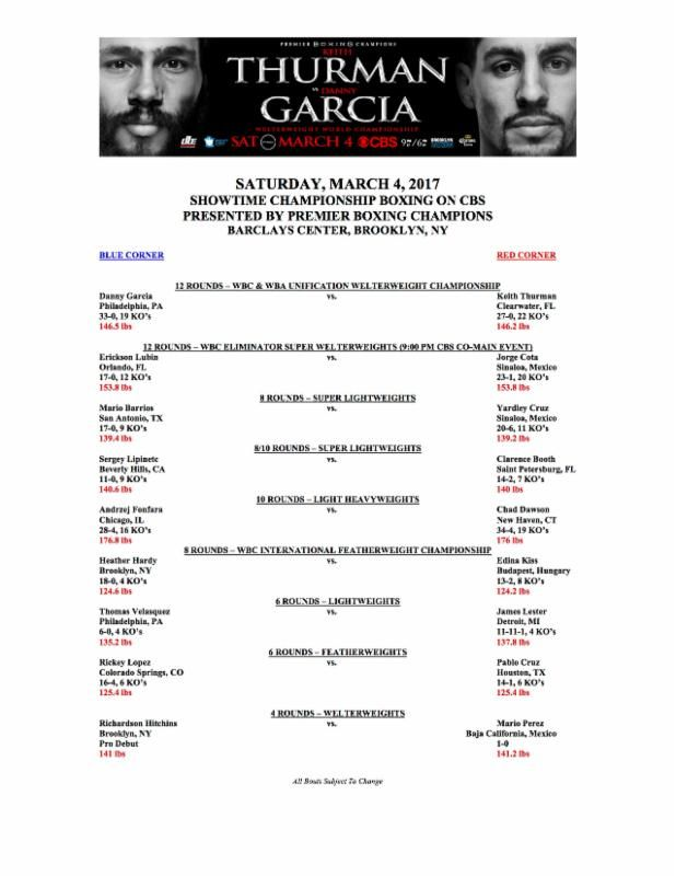 KEITH THURMAN VS. DANNY GARCIA WEIGH-IN VIDEO | REAL COMBAT MEDIA
