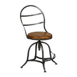 Philadelphia Industrial High Back Wooden Chair