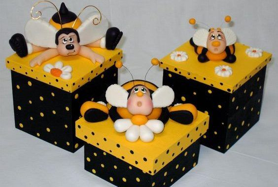 Você vai se encantar com as 10 ideias de caixas de MDF decoradas com biscuit que separamos para deixar você APAIXONADA
