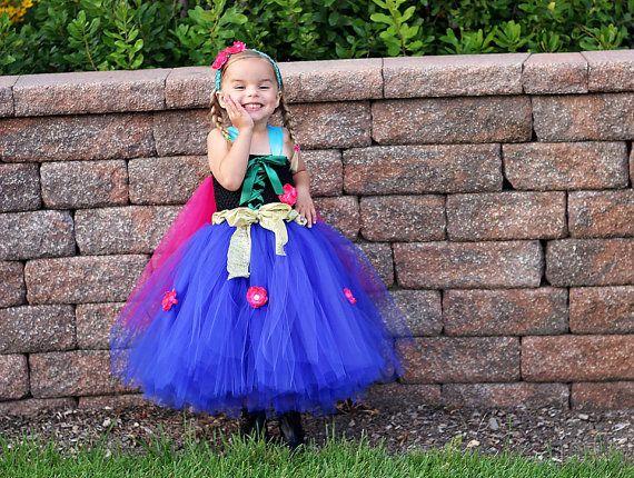 Anna Inspired FROZEN Tutu Dress Pageants by AllDressedUpCouture, $75.00