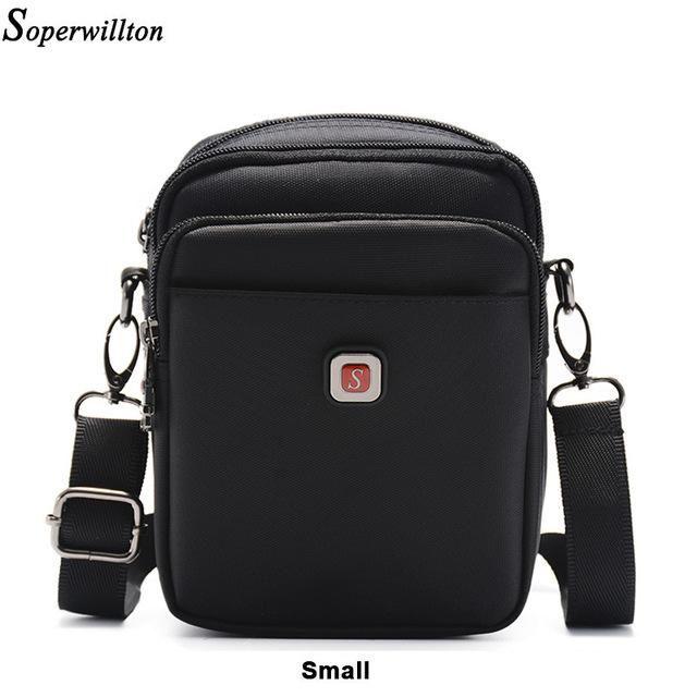 Men Bag Shoulder Cross-body Classic Oxford Waterproof Zipper Casual Black Bag