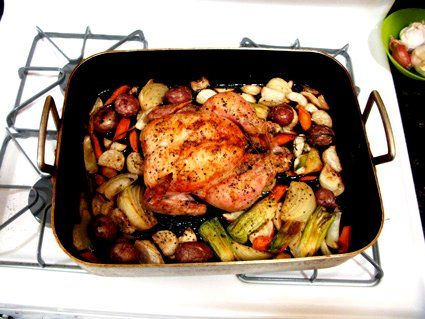 Thomas Keller's Roast Chicken with Root Vegetables - First recipe for ...