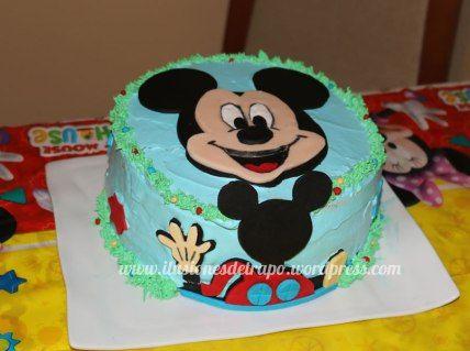 tarta cumple mickey mouse