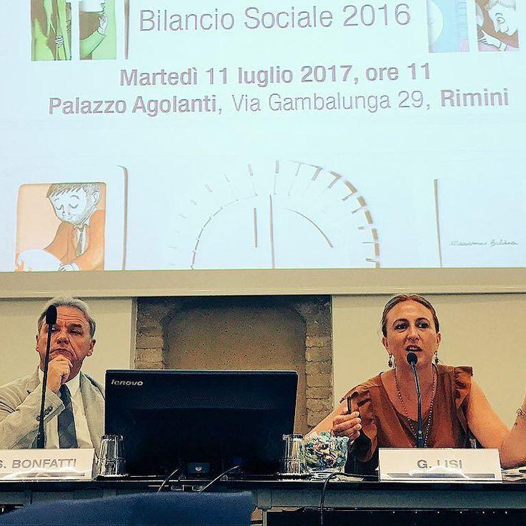 Presentazione Bilancio Sociale 2016 con il Presidente di Banca Carim Sido Bonfatti e il Vice Sindaco di Rimini Gloria Lisi #instagram #bancacarim