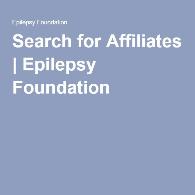 Search For Affiliates | Epilepsy Foundation