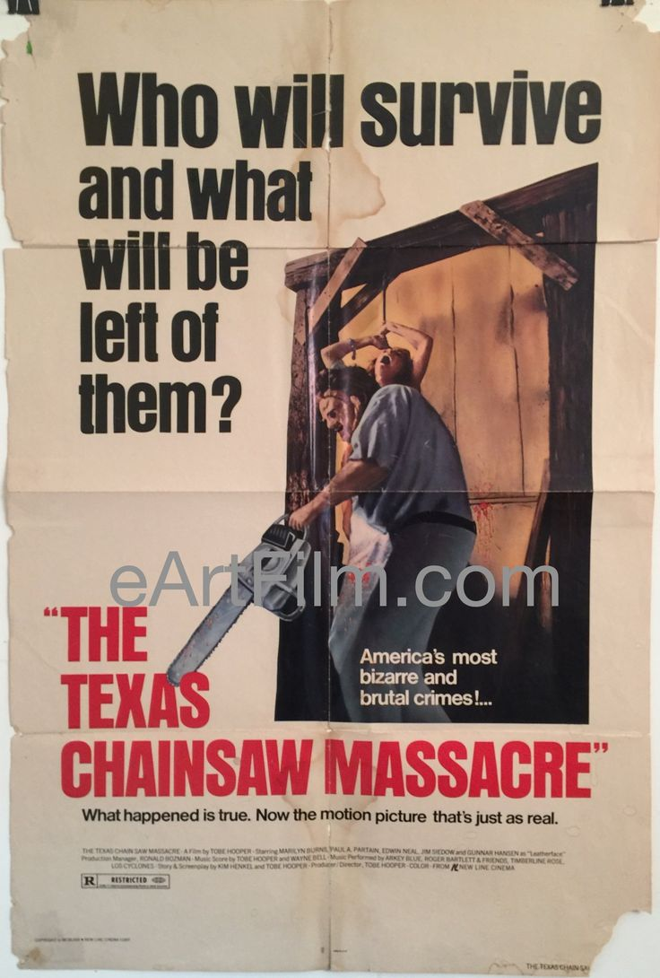 October 1 1974 #TheTexasChainsawMassacre premieres in #Austin #Texas https://eartfilm.com/search?q=texas+chainsaw+massacre #ATX #TobeHooper #Leatherface #horror #slasher #movie #movies #poster #posters #film #cinema #movieposter #movieposters    Texas Chainsaw Massacre-Tobe Hooper-Marilyn Burns-Edwin Neal-1980-27x41