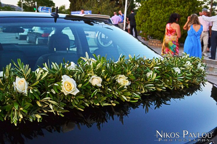 Wedding car decoration .