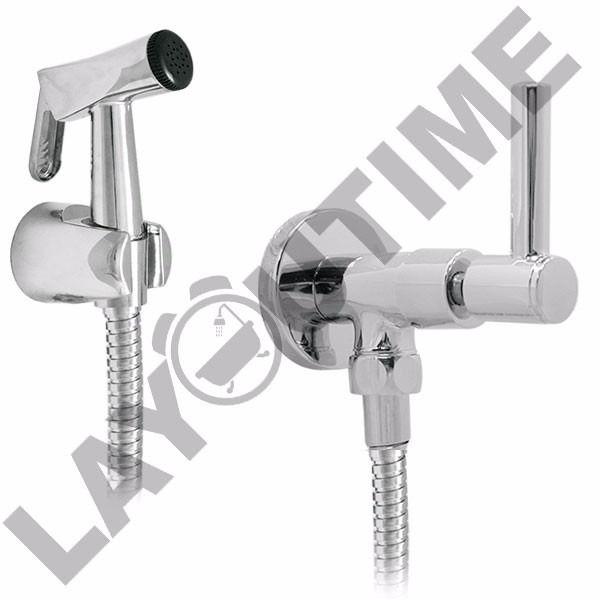 ducha higiênica 1/4 volta completa metal c/ alavanca luxo