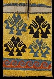CHIMU culture - Tabard with cat and bird design