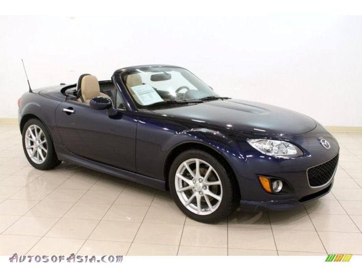 2009 MX-5 Miata Hardtop Grand Touring Roadster - Stormy Blue Mica / Dune Beige photo #1