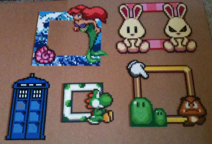 Photo frames hama perler beads