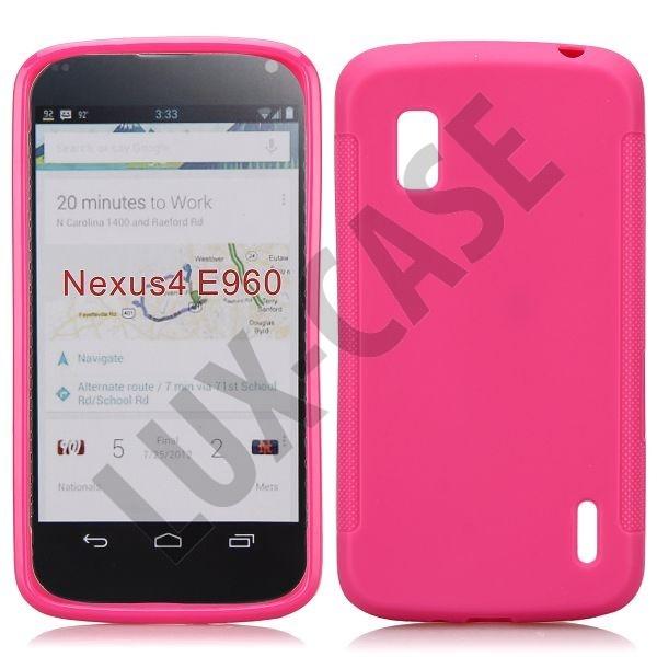 Soft Shell (Sterk Rosa) Google Nexus 4 Deksel