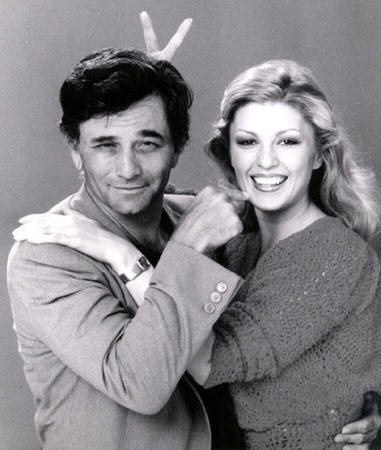 Mr and Mrs Peter Falk (Shera Danesse), married in 1977.  He died in 2011 after 34 yrs of marriage