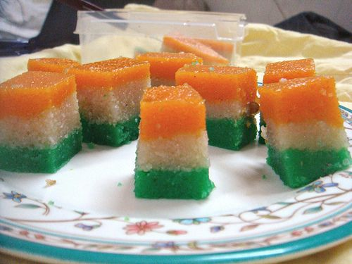 Tricolor Halva for Indian Independence Day