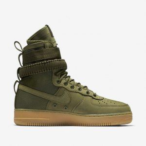 online store f097d 2c808 Mens Womens Nike Special Forces Air Force 1 Boots Faded Olive Faded Gum  Light Brown 859202